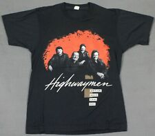 Highwaymen Vintage 1990 Tour Concert T-Shirt Screen Stars Johnny Cash Willie