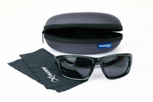 New Fox Matrix Polarised Sunglasses Trans Black Wraps/Grey Lense GSN001 Fishing