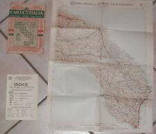 LECCE FOGLIO 44 PUGLIA CARTINA VECCHIA CARTA D ITALIA TOURING CLUB ANNI 30 DI E