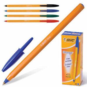 Bic Orange Original Fine Ballpoint Pens  Biros BLACK-BLUE-RED-GREEN  Cheap