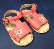 Kid Express Flower Girls Pink Sandals size EU 19 US 3.5/4 EUC Ships Free