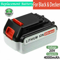 4.0Ah For Black&Decker 20V Max Lithium Battery LB2X4020-OPE LBXR20 LBX20 LBX4020