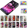 Girl Women PU Leather Case Cell Phone Flip Wallet Cover Stand For Samsung Galaxy