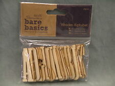 Docrafts Papermania Bare Basics Wooden Alphabet 5cm x 1.5cm 26pcs cards scrapboo