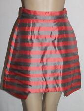 Wild Horses Designer Grey Coral Stripe Tulip Cocktail Skirt Size XXS BNWT #SY41