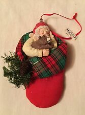 Midwest Importers Cannon Falls Santa In Stocking Christmas Ornament Decoration