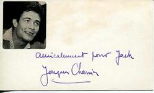 "JACQUES CHARRIER ""THE THIRD LOVER"" FRENCH ACTOR SIGNED CARD AUTOGRAPH"