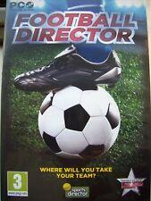 Fußball Direktor --- wo werden Sie sich Ihr Team --- Sport Game --- PC CD-Mint