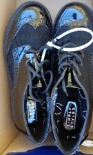 Simply Stated Boy's Black Pat & Leather Like Tie Shoes Nwob Size 2 M