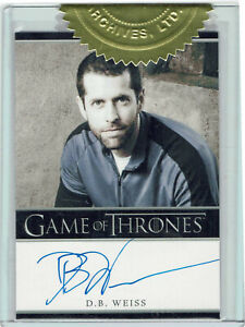 Game of Thrones Season 2 Autograph Card D.B. Weiss Producer Dealer Incentive