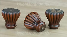 4x SOLID WOOD FURNITURE FEET REPLACEMENT LEGS FOR SOFAS CHAIRS SETTEES STOOLS
