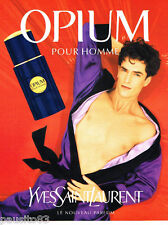 PUBLICITE ADVERTISING 085  1995  OPIUM  parfum homme YVES SAINT LAURENT