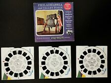🎬Viewmaster U.S.🎬Philadelphia & Valley Forge🎬S3 Sawyers View-Master set mint