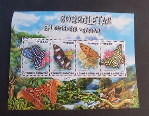 St Thomas & Prince Island 2015 Tropical Butterfly Butterflies MS MNH UM