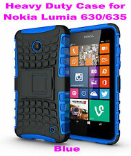 Blue Heavy Duty Strong Tradesman TPU Case Cover Stand For Nokia Lumia 630/635