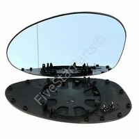 For BMW M3 E46 Coupe 2001-06 Blue Tinted Electric Left Wing Mirror Glass