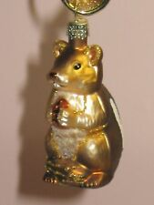"Old World Christmas ""Chipmunk"" Glass Ornament"