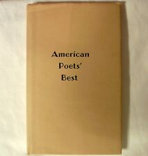 American Poets Best 1967 Volume 4 Compilation Digest Poetry Hardcover Book w dj