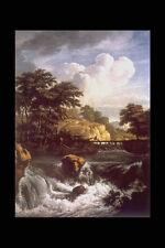 358029 Colpo Di Sole Sulla Cascata Jacob Van Ruysdael A4 Photo Print