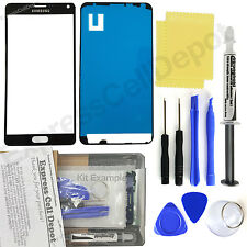 For Black Samsung Galaxy Note 4 Front Glass Lens Screen Replacement Kit
