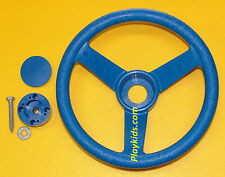 "Playground Swing Set Play Backyard Jungle Gym Steering Wheel & Cap 12"" SWR Blue"