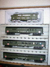 HO IHC Military US Army Hospital Train Set F3-a LOCO W/3 Pass Cars #20087-1