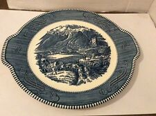 CURRIER & IVES ROYAL IRONSTONE COVERWAGON HANDLES PLATE