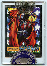 Diamond Comics Wizard Todd McFarlane Platinum Spawn Card 1992 A1