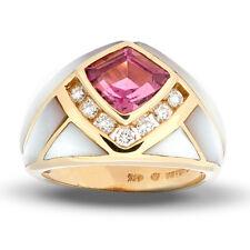 Kabana Closeout Mother of Pearl and Pink Tourmaline Ring  sz 7 reg $2,200.00