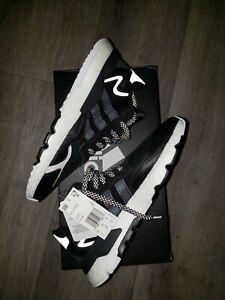 Adidas Nite Jogger Shoes - Black & White Classic