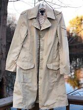 H&M Khaki Cotton Button Up Jacket Women Size 8 - vintage