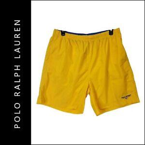 Polo Sports Ralph Lauren Men Outdoor Active Wear Board Short Size 2XL Yellow
