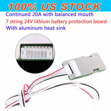 7s Cell 24V 20A With Balancing Li-ion Lithium 18650 Battery Bms Protection Board