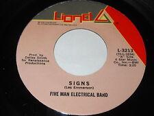 Five Man Electrical Band: Signs / Hello Melinda Goodbye 45