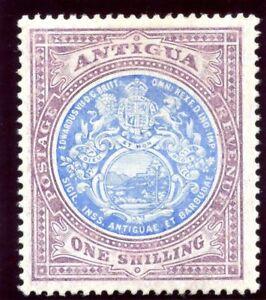 Antigua 1908 KEVII 1s blue & dull purple MLH. SG 49. Sc 37.