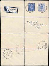 GB RAF THORNEY ISLAND HANTS 1951 ENVELOPE REGISTERED EMSWORTH 6 1/2d