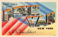 Large letter postcard Greetings from Penn Yan New York in the Finger Lakes