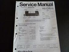 ORIGINALI service manual TECHNICS Cassette Deck RS-CH 550