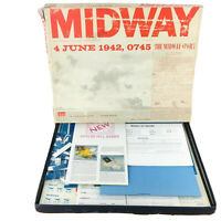 Avalon Hill : MIDWAY game WW2 Pacific AIR & Naval 1942 Partially UNPUNCHED 1964