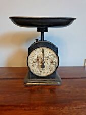 Antique Hughes Family Scales No48 Black Metal with Gold Painted Design (Kitchen)