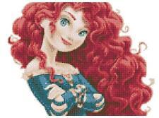 La principessa Merida 14 conteggio Punto Croce Kit