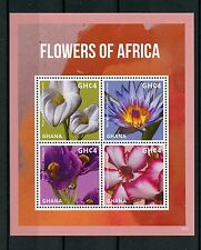 Ghana 2016 MNH Flowers of Africa Arum Blue Water Impala Lily 4v M/S Flora Stamps