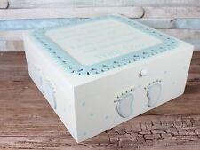 GRANDE Baby Boy Blue RICORDI Shabby Chic Memory Box Di Stoccaggio