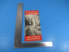 Vintage 1972 Travel Brochure Friendly Rd Cross & Co. Tacks East Jaffrey Nh S2746