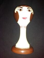 "Vintage Stangl Pottery Ceramic Mannequin Head Hat Wig Stand 15"" limited to 1968"