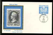 "U.S. FDC #UZ3 Colorano ""Silk Cachet Washington, DC 14c Official Mail Postal Card"