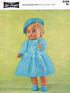 """Vintage Knitting Pattern for Dolls Clothes to fit 16"""" doll - A4 printed copy"""