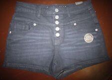 Shorts Juniors NWT Aeropostale High Waisted Shorty Black Denim Hip Trendy Size 4