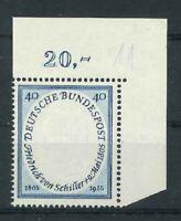 Luxus BRD Michel-Nr. 210 Ecke 2 - Eckrand - postfrisch **