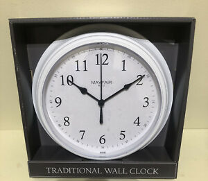 Mayfair & Co. Traditional Wall Clock White 22cm